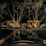 landscape lighting Mirror lighting example
