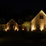landscape lighting Up lighting example