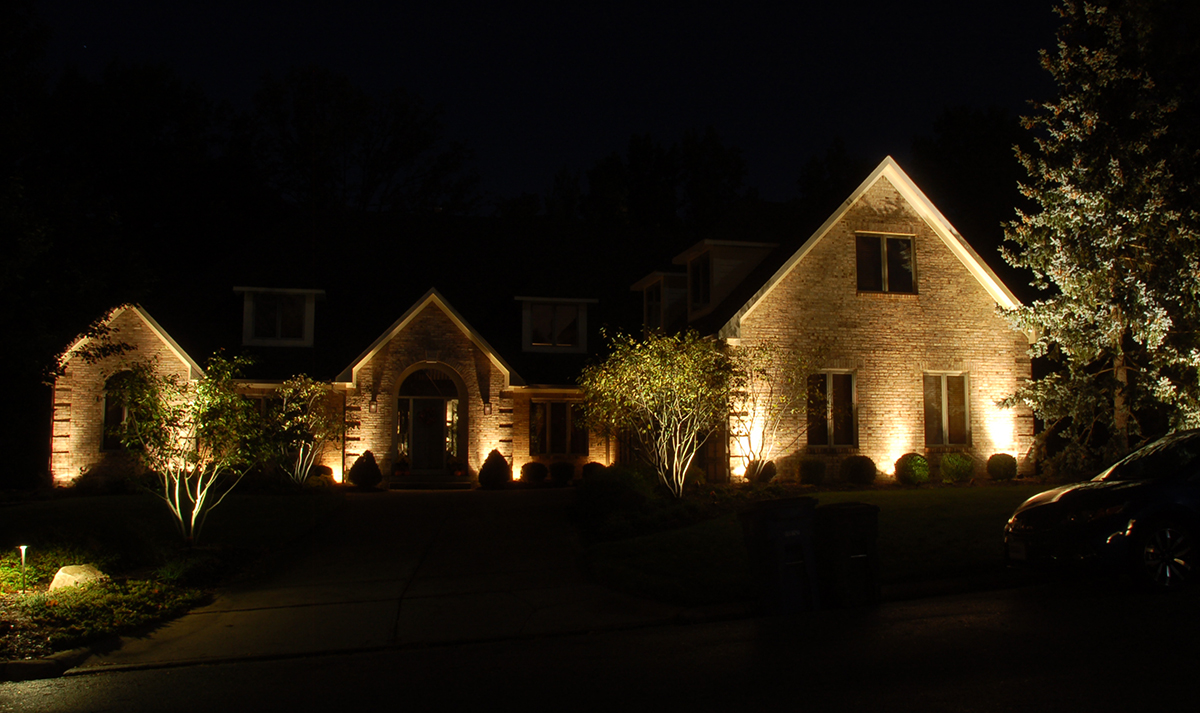 Landscape lighting wow effect wolf creek company spot light example landscape lighting up lighting example mozeypictures Image collections